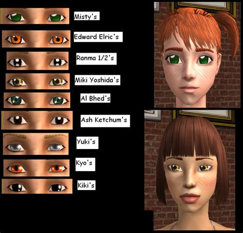 sims 4 mods manga mod the sims various manga anime eyes