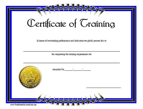 6 Free Training Certificate Templates Excel Pdf Formats A Certification Template