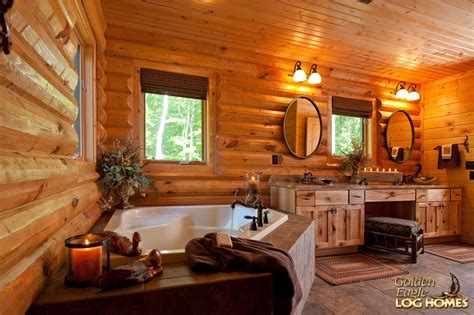 log cabin bathrooms golden eagle log and timber homes log home cabin