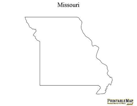 missouri map outline printable map of missouri state map of missouri