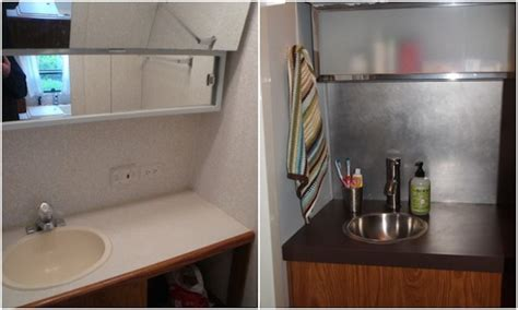 rv bathroom remodel an rv bathroom remodel for under 100 yes it s possible