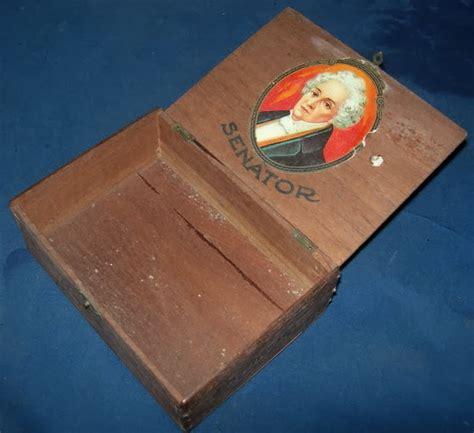 Bahan 12 Kotak dunia lawas kotak cerutu senator