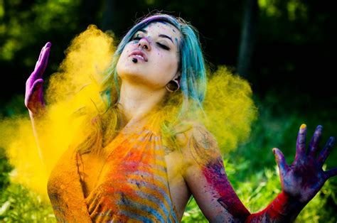 happy holi indian festival girl painted hd wallpaper   stylishhdwallpapers
