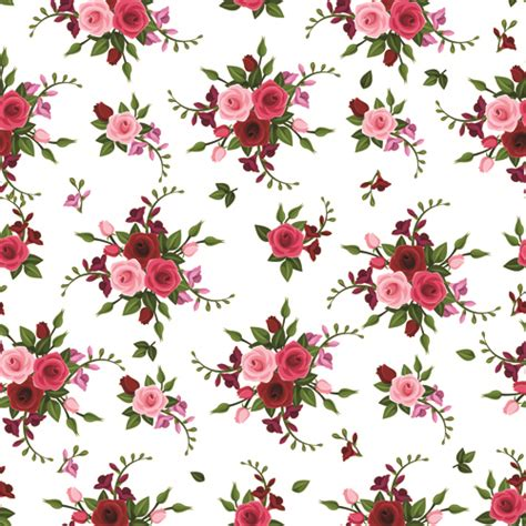 pattern vintage rose vintage roses vector seamless pattern 02 vector flower