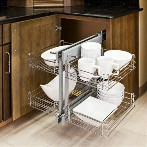 Corner Cabinet Pull Out Shelf by Build Blind Corner Cabinet Pull Out Woodworking Projects