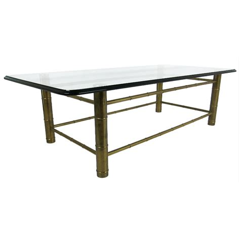 mastercraft brass faux bamboo coffee table cravemodern