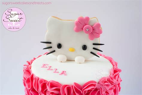 Decorating Cakes At Home by Hello Kitty Ruffled Cake Cakecentral Com
