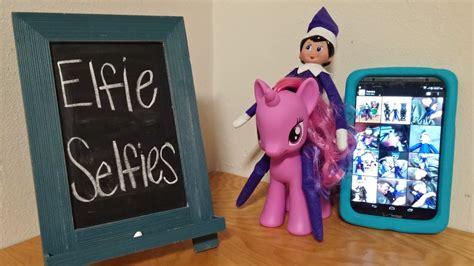 printable elf on the shelf selfies purple elf on the shelf elfie selfies day 13 youtube