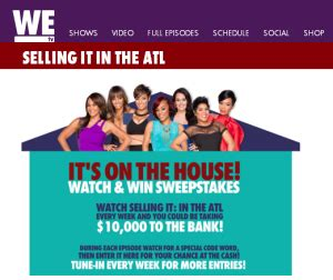 We Tv Sweepstakes - we tv wach and win 10 000 from it s on the house watch and win