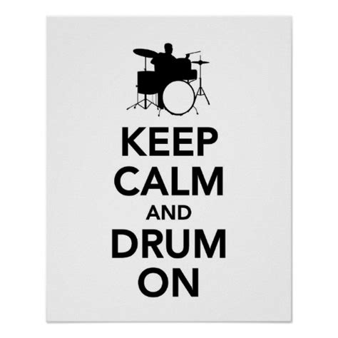 drum pattern poster keep calm and drum on posters zazzle