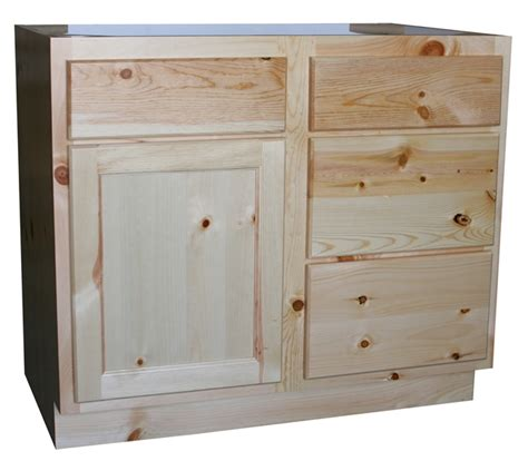 Pine Vanity Cabinet by Knotty Pine Bathroom Vanity Cabinets The Log Furniture Store