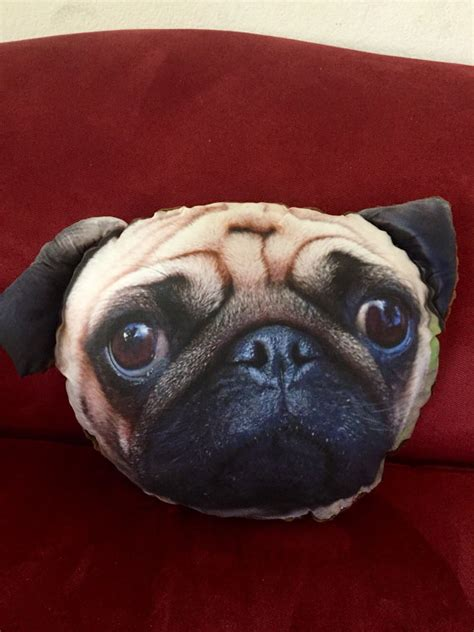 pug pillow pet brown pug pillow custom pet pillow