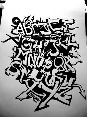 alfabeto graffiti  contemporary urban artist