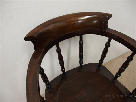Solid Stained Beech Swivel Captains Chair Antiques Atlas Swivel Captains Chair
