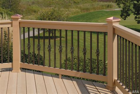 Patio Deck Railing Designs Others Majestic Log Cabin Deck Railing Designs With Wrought Iron Deck Railing With Wood Handrail