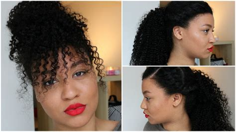 clip on bangs hairstyles with ponytail curly hairstyles with clip ins faux bangs curly ponytail