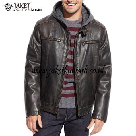 Jaket Kulit Pria Kupluk jaket kulit kupluk pria a657