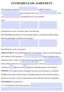 Residential Property Lease Agreement Template by Free Residential Lease Agreements Pdf And Word Templates