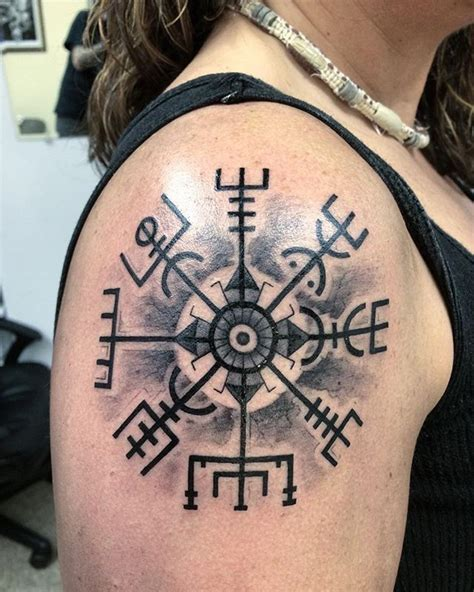 nordic tattoo compass image result for viking compass tattoos pinteres