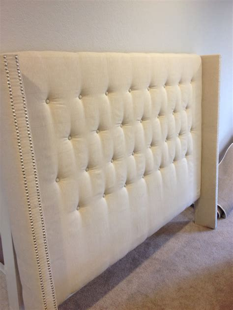 diy fabric headboard instructions money hip mamas diy upholstered headboard with nailhead