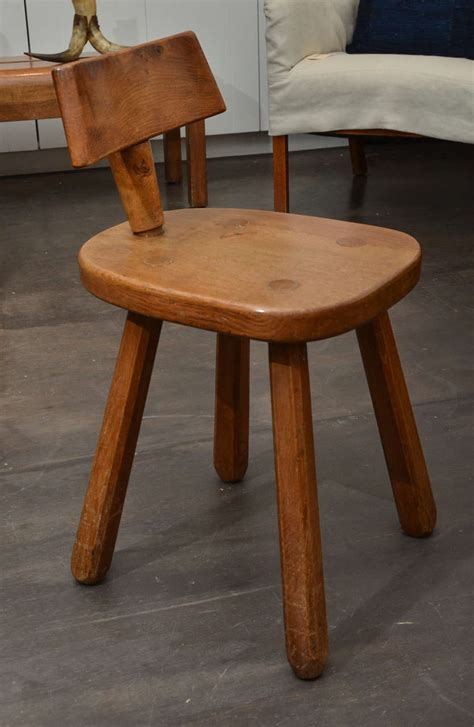 Oak Stools With Backs by Oak Stool With Back Rest At 1stdibs