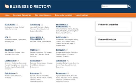 business directory template free demo of php business directory php mysql software for business directories