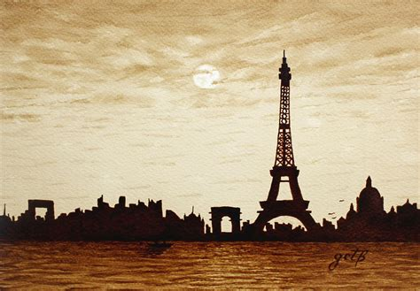 Home Decor Canada Online paris under moonlight silhouette france painting by