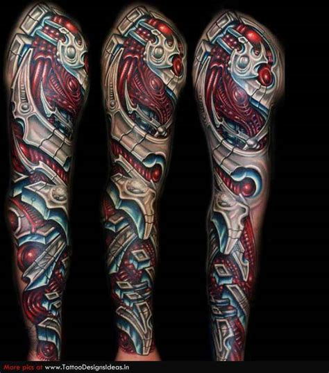 biomechanical tattoo leg sleeve sleeves biomechanical tattoo design of tattoosdesign of
