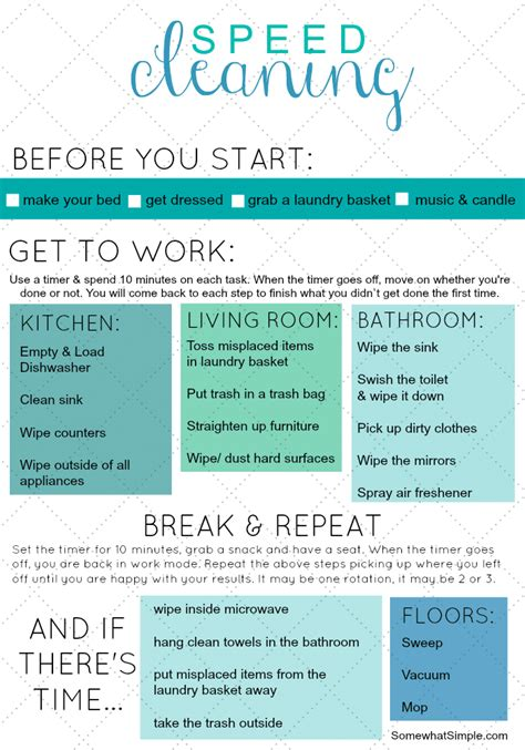 Show Me My Calendar Speed Cleaning Free Printable Tips Tricks With