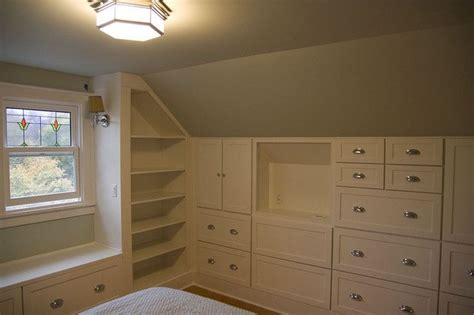 built in bedroom storage attic built in storage for katie s room our craftsman