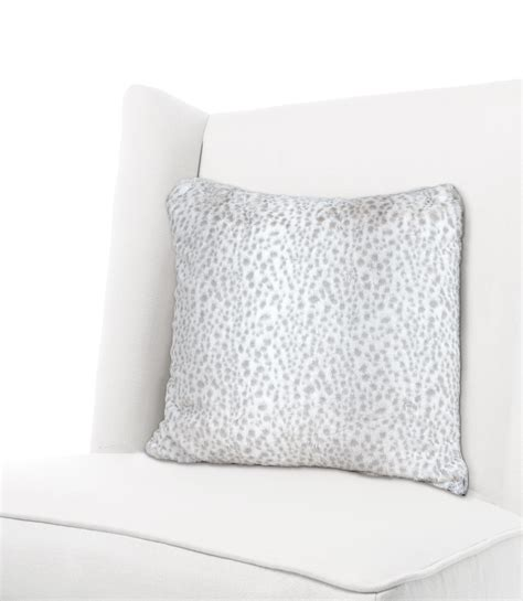 luxe snow leopard throw pillow