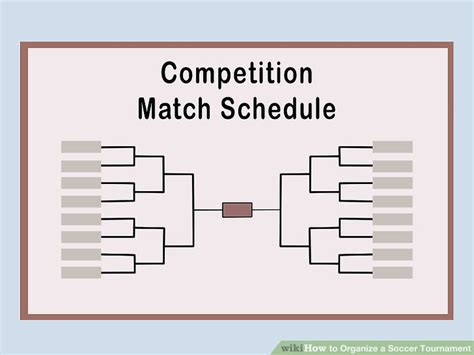 How To Organize A Soccer Tournament With Pictures Wikihow Soccer Tournament Schedule Template