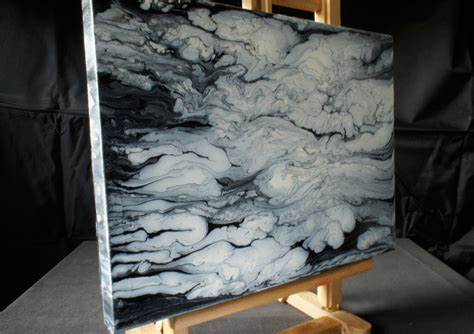 acrylic painting ideas black and white acrylmalerei demo fluid acrylic painting black white