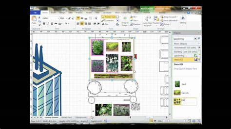 visio landscape template visio 2010 community garden layout wmv