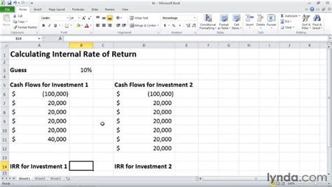 Rate Of Return Spreadsheet by Irr Calculating Rate Of Return