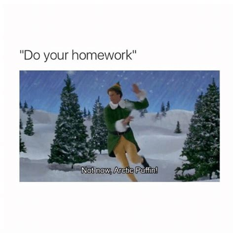 Do Your Meme - do your homework not now arctic puffin homework meme on
