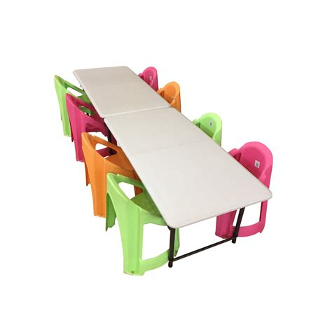 Toddler Folding Table And Chairs 2 Folding Trestle Tables And 8 Chairs