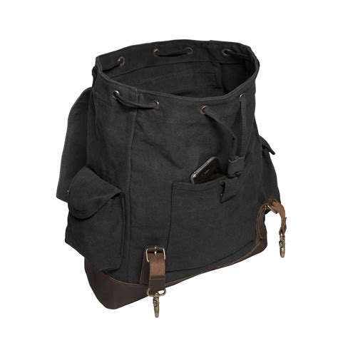 backpack with leather straps jeep an american tradition vintage canvas rucksack backpack with leather straps ebay