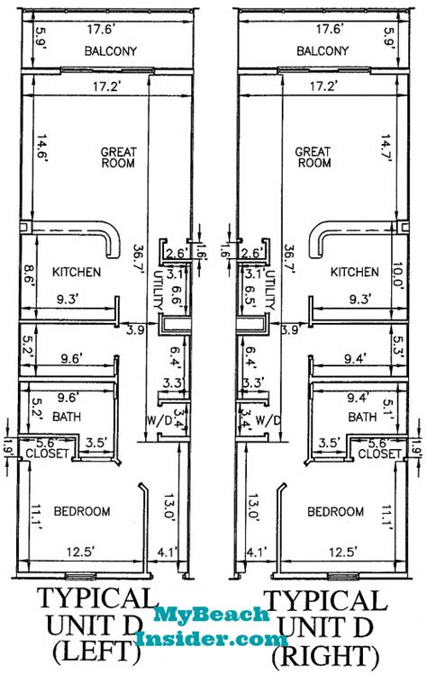 bunk room floor plans calypso towers condo floor plans panama city beach florida