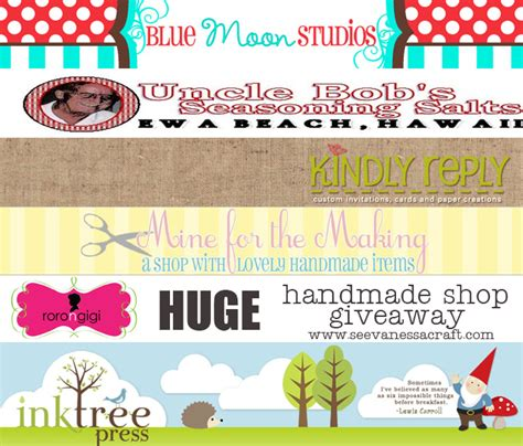 Handmade Craft Shop - blogiversary handmade shop giveaway see craft