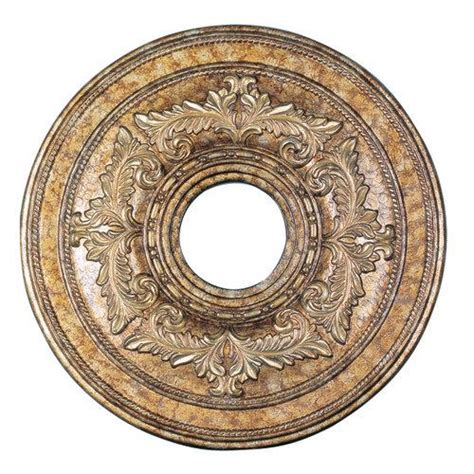 Medallions For Light Fixtures La Crafted Ceiling Medallion Vintage Gold Livex Lighting Fixtures 8205 65 Ebay