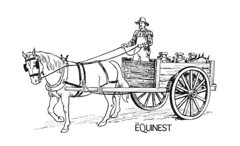 covered wagon with horse coloring pages