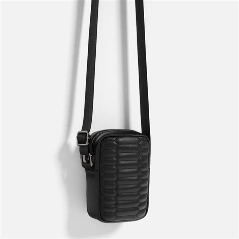 Zara Mini Quilted Messenger Bag by Zara Mini Quilted Black Crossbody Bag In Black Lyst