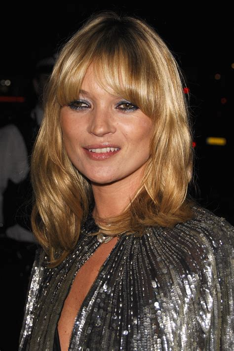 Kate Moss Cuts Bangs Em Or Em by The 30 Most Iconic Fringe Moments Of All Time Stylecaster