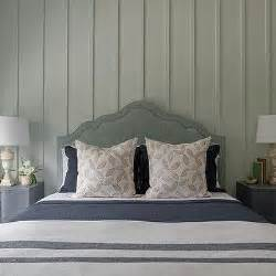 seafoam green headboard white and green cottage bathroom design ideas
