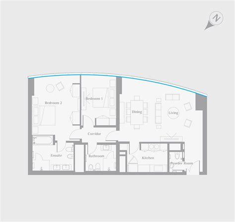 cn tower floor plan living 2bed floorplans