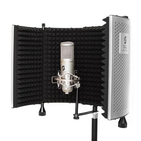 Pop Filter Cover Microphone Recording For Smulle Vlog Murah 1 portable vocal booth pro with floor desk stands home recording editors