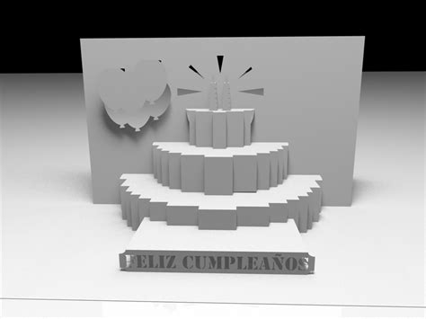 happy birthday 3d card template awesome svgs kirigami quot feliz cumplea 241 os quot and quot happy