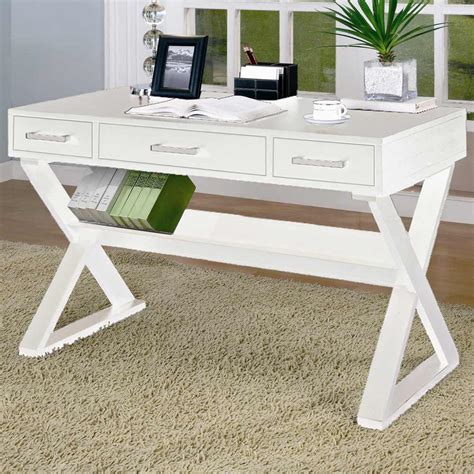 solid wood white writing desk solid wood home office furniture for style and durability