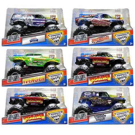 monster jam 1 24 scale wheels monster jam 1 24 scale wave 5 case mattel